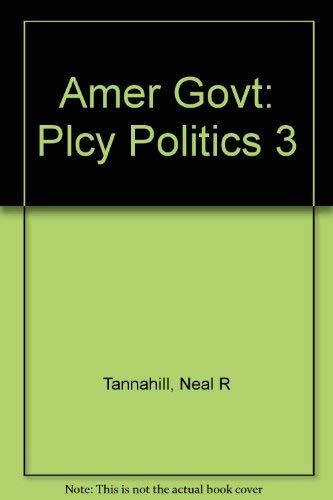 9780673388056: Amer Govt: Plcy Politics 3