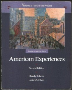 9780673388636: American Experiences, Vol. 2: 1877 to the Present