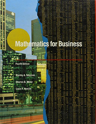 9780673389039: Mathematics for Business