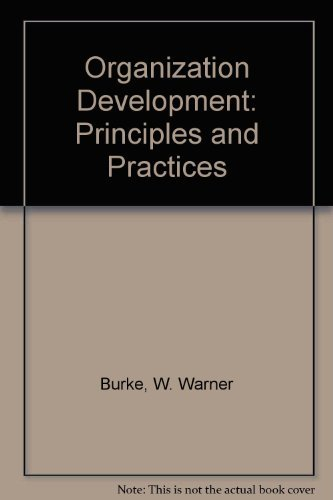 9780673390189: Organization Development: Principles and Practices