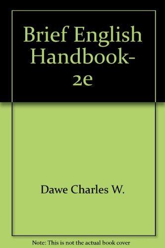9780673392510: Brief English Handbook, 2e