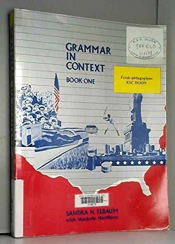 9780673392572: Grammar in Context Bk 1
