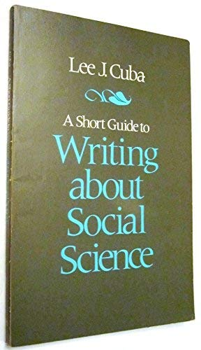 9780673397669: A Short Guide to Writing About Social Science