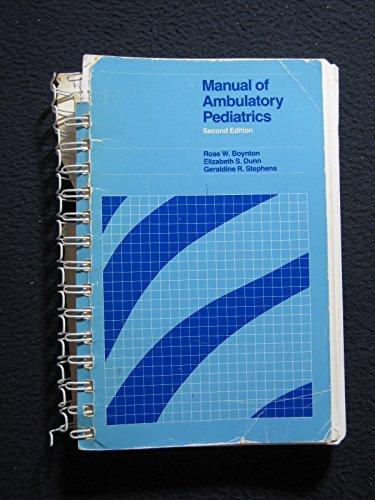 9780673397874: Manual of Ambulatory Pediatrics