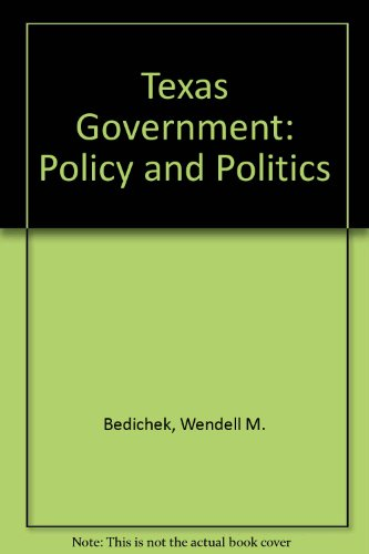 9780673398956: Texas Government: Policy and Politics