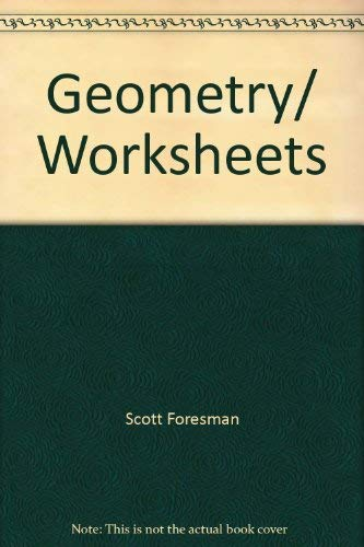 9780673453372: Geometry/ Worksheets