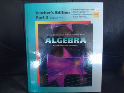 9780673457677: Algebra, Part 2, Teacher's Edition (University of Chicago School Mathematics Project)