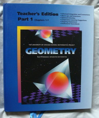 9780673457868: Geometry Teacher's Edition Part 1 (Chapters 1-7) (University of Chicago School Mathematics Project)