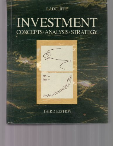 9780673460189: Investment: Concepts, Analysis, Strategy (Robert S. Hamada series in finance)