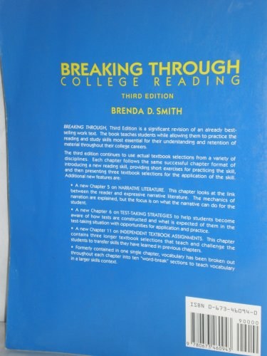 9780673460943: Breaking Through: College Reading