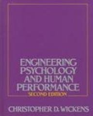 9780673461612: Engineering Psychology and Human Performance