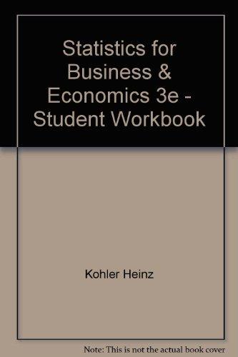 9780673463265: Statistics for Business & Economics 3e - Student Workbook