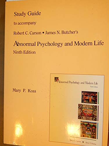 9780673466495: Abnormal Psychology & Modern Life (Study Guide)