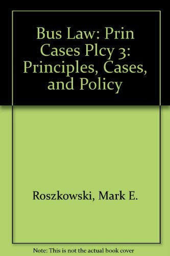 9780673521309: Business Law: Principles, Cases, and Policy