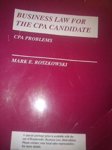 9780673522184: Business Law CPA Candidate