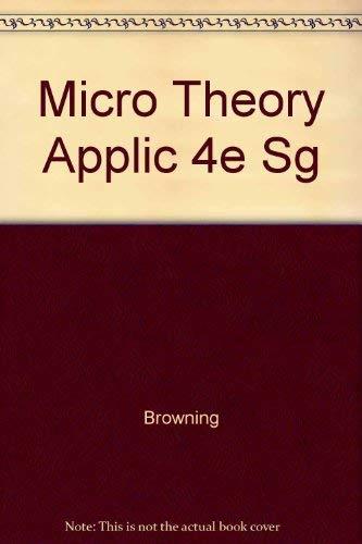 9780673522207: Micro Theory Applic 4e Sg