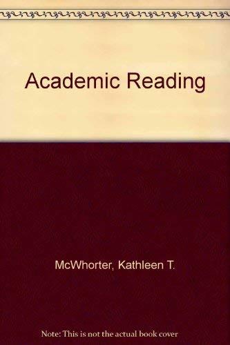 Academic Reading: McWhorter, Kathleen T.