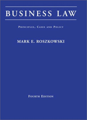 9780673523983: Business Law: Principles, Cases, and Policy (4th Edition)