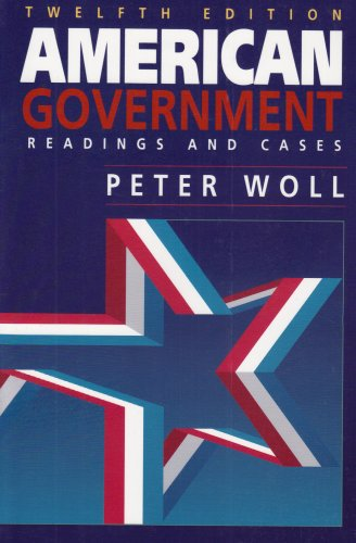 9780673524386: American Government ~ Readings and Cases