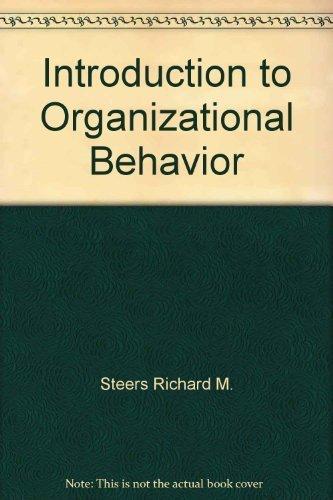 9780673536082: Introduction to Organizational Behavior