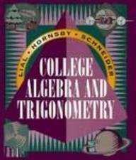 College Alg Trigonometry: Margaret L. Lial;