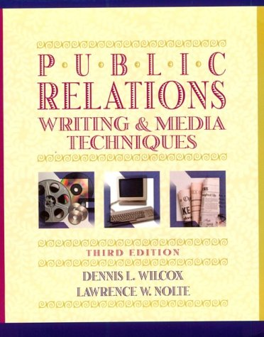 9780673980830: Public Relations Writing and Media Techniques