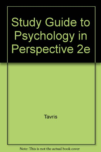 9780673984203: Study Guide to Psychology in Perspective 2e