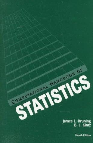 Computational Handbook of Statistics (4th Edition): Bruning, James L.;