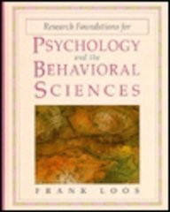 9780673994813: Research Foundations for Psychology and the Behavioral Sciences