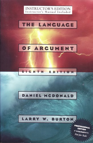 9780673995087: The Language of Argument