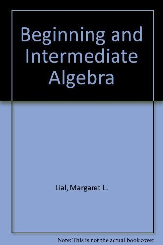 9780673998590: Beginning and Intermediate Algebra (Students Solution Manual)