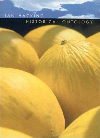 9780674006164: Historical Ontology