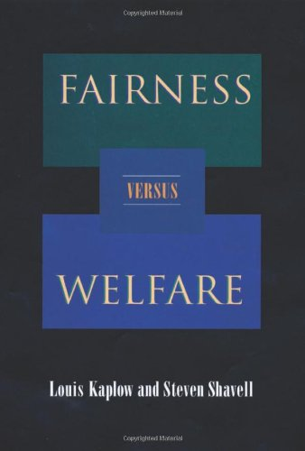 9780674006225: Fairness Versus Welfare
