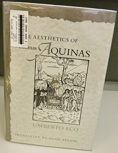 9780674006751: The Aesthetics of Thomas Aquinas (English and Italian Edition)