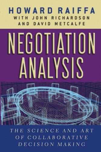 9780674008908: Negotiation Analysis: The Science and Art of Collaborative Decision Making