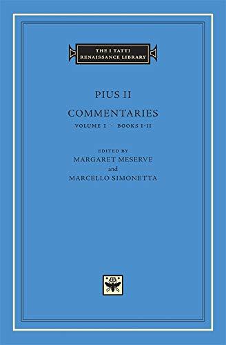 9780674011649: Commentaries, Volume 1: Books I-II (The I Tatti Renaissance Library)