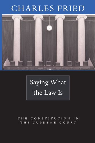 9780674019546: Saying What the Law Is: The Constitution in the Supreme Court