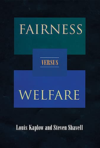 9780674023642: Fairness versus Welfare