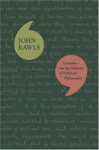 Lectures on the History of Political Philosophy: Rawls, John