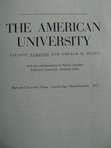 9780674029200: The American University