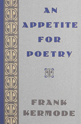 9780674040939: An Appetite for Poetry
