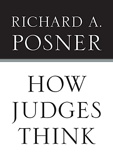 9780674048065: How Judges Think