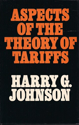 9780674049918: Aspects of the Theory of Tariffs