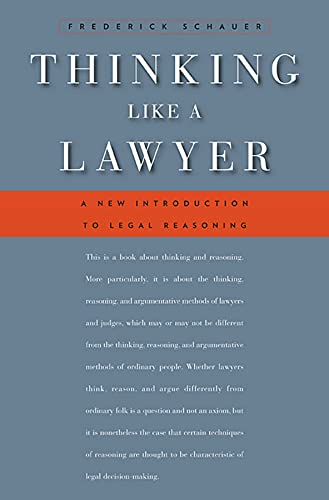 9780674062481: Thinking Like a Lawyer: A New Introduction to Legal Reasoning