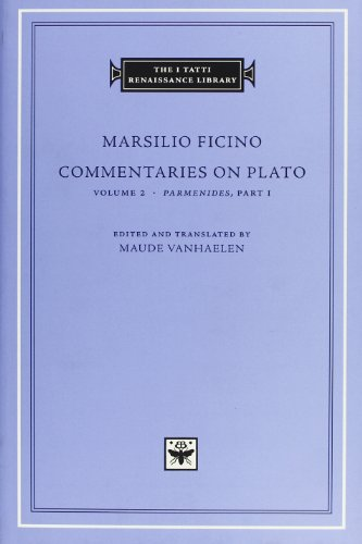9780674064713: Commentaries on Plato, Volume 2: Parmenides, Part I
