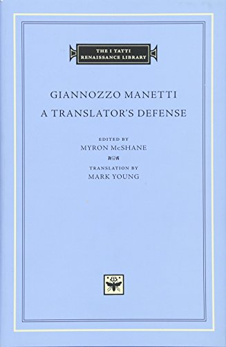 9780674088658: A Translator's Defense (I Tatti Renaissance Library)