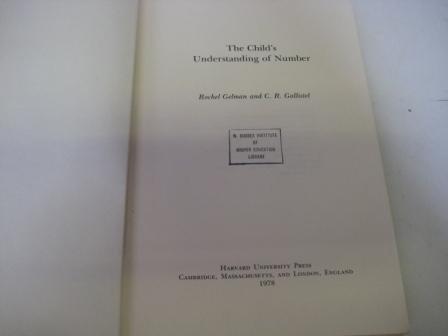 9780674116368: The Child's Understanding of Number