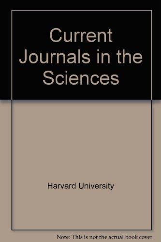 Current Journals in the Sciences: Harvard University