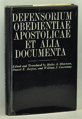Defensorium Obedientiae Apostolicae et Alia Documenta: Gabriel Biel