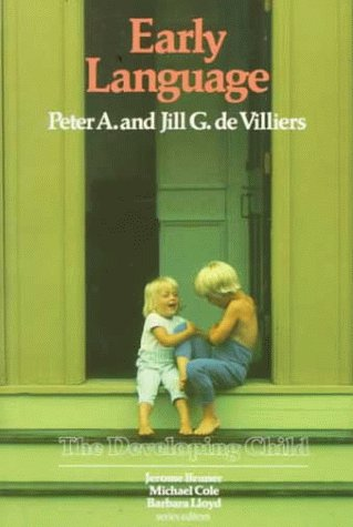 9780674221413: De Villiers: Early Language (Paper) (Developing Child)